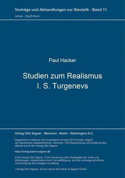 Studien zum Realismus I. S. Turgenevs von Hacker,  Paul