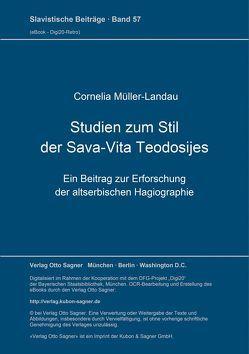 Studien zum Stil der Sava-Vita Teodosijes. Ein Beitrag zur Erforschung der altserbischen Hagiographie von Müller-Landau,  Cornelia