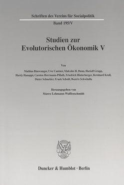 Studien zur Evolutorischen Ökonomik V. von Lehmann-Waffenschmidt,  Marco