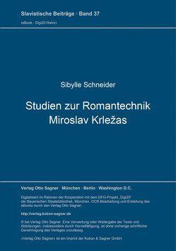 Studien zur Romantechnik Miroslav Krležas von Schneider,  Sibylle