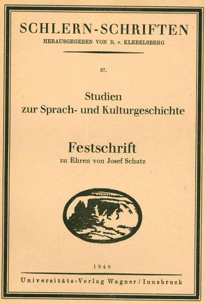 Studien zur Sprach- und Kulturgeschichte von Ammann,  Hermann