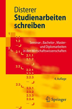 Studienarbeiten schreiben von Disterer,  Georg