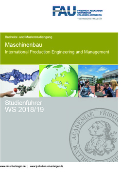 Studienführer Maschinenbau und International Production Engineering and Management WS 2018/19 von Kreis,  Oliver