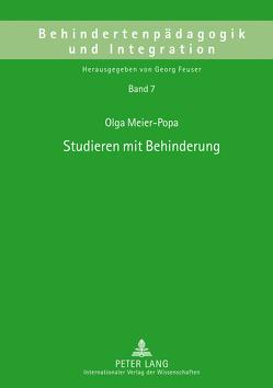 Studieren mit Behinderung von Meier-Popa,  Olga