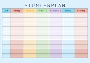 Stundenplan Farbenfroh 2-seitig – (30 x 21) von ALPHA EDITION