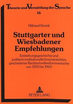 Stuttgarter und Wiesbadener Empfehlungen von Strunk,  Hiltraud