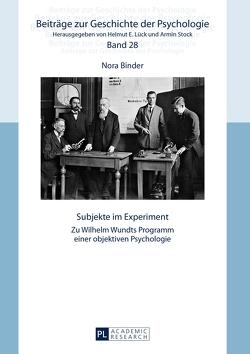 Subjekte im Experiment von Binder,  Nora