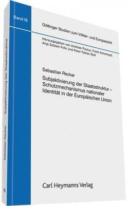 Subjektivierung der Staatsstruktur von Recker,  Sebastian