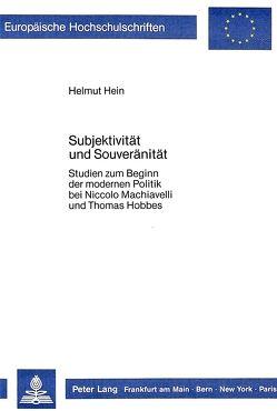 Subjektivität und Souveränität von Hein,  Helmut