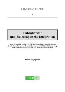 Subsidiarität und die europäische Integration von Magagnotti,  Paolo