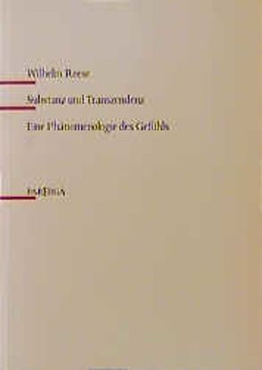 Substanz und Transzendenz von Reese,  Wilhelm