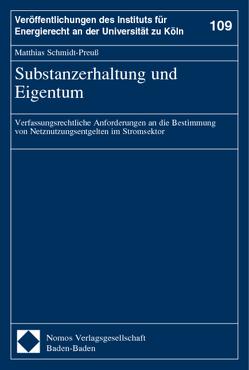 Substanzerhaltung und Eigentum von Schmidt-Preuß,  Matthias