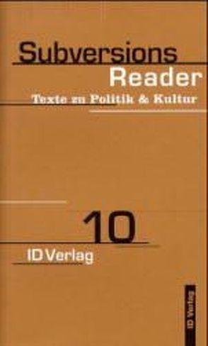 SubversionsReader von Diedrichsen,  Diedrich, Hoffmann,  Martin, Lovink,  Geert