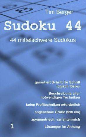 Sudoku 44 von Berger,  Tim