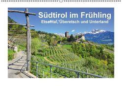 Südtirol im Frühling. Etschtal, Überetsch und Unterland. (Wandkalender immerwährend DIN A2 quer) von Scheffbuch,  Gisela