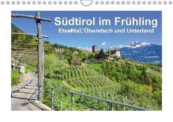 Südtirol im Frühling. Etschtal, Überetsch und Unterland. (Wandkalender immerwährend DIN A4 quer) von Scheffbuch,  Gisela