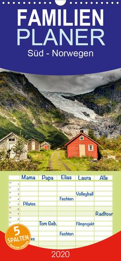 Süd – Norwegen – Familienplaner hoch (Wandkalender 2020 , 21 cm x 45 cm, hoch) von Hallweger,  Christian