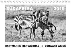 SÜDAFRIKA Hartmanns Bergzebras in schwarz-weiss (Tischkalender 2019 DIN A5 quer) von Thula