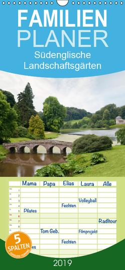 Südenglische Landschaftsgärten – Familienplaner hoch (Wandkalender 2019 , 21 cm x 45 cm, hoch) von Lueftner,  Juergen