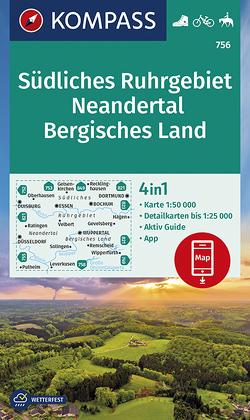 Südliches Ruhrgebiet, Neandertal, Bergisches Land von KOMPASS-Karten GmbH