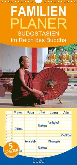 SÜDOSTASIEN Im Reich des Buddha – Familienplaner hoch (Wandkalender 2020 , 21 cm x 45 cm, hoch) von Weigt,  Mario