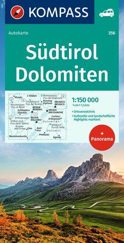 Südtirol, Dolomiten von KOMPASS-Karten GmbH