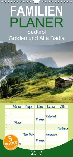 Südtirol – Gröden und Alta Badia – Familienplaner hoch (Wandkalender 2019 , 21 cm x 45 cm, hoch) von - Uwe Vahle,  Kordula