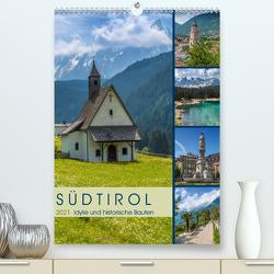 SÜDTIROL Idylle und historische Bauten (Premium, hochwertiger DIN A2 Wandkalender 2021, Kunstdruck in Hochglanz) von Viola,  Melanie