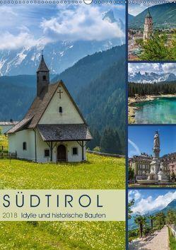 SÜDTIROL Idylle und historische Bauten (Wandkalender 2018 DIN A2 hoch) von Viola,  Melanie