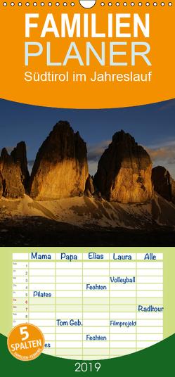 Südtirol im Jahreslauf – Familienplaner hoch (Wandkalender 2019 , 21 cm x 45 cm, hoch) von G.,  Piet