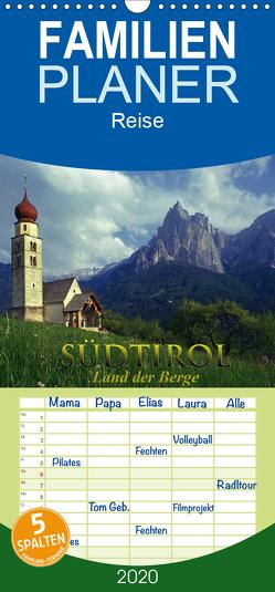 SÜDTIROL – Land der Berge – Familienplaner hoch (Wandkalender 2020 , 21 cm x 45 cm, hoch) von Janka,  Rick