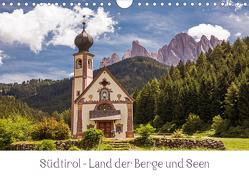 Südtirol – Land der Berge und Seen (Wandkalender 2021 DIN A4 quer) von Müller,  Harry