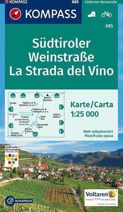 Südtiroler Weinstraße, La Strada del Vino von KOMPASS-Karten GmbH