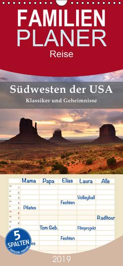 Südwesten der USA – Klassiker und Geheimnisse – Familienplaner hoch (Wandkalender 2019 , 21 cm x 45 cm, hoch) von Pichler,  Simon