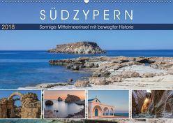 Südzypern, sonnige Mittelmeerinsel mit bewegter Historie (Wandkalender 2018 DIN A2 quer) von Kruse,  Joana