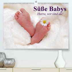 Süße Babys. Hurra, wir sind da! (Premium, hochwertiger DIN A2 Wandkalender 2021, Kunstdruck in Hochglanz) von Stanzer,  Elisabeth