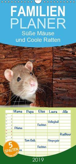 Süße Mäuse und Coole Ratten – Familienplaner hoch (Wandkalender 2019 , 21 cm x 45 cm, hoch) von Eppele,  Klaus