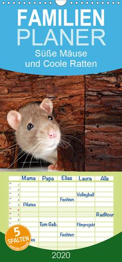 Süße Mäuse und Coole Ratten – Familienplaner hoch (Wandkalender 2020 , 21 cm x 45 cm, hoch) von Eppele,  Klaus