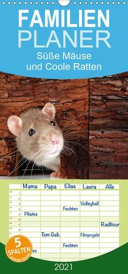 Süße Mäuse und Coole Ratten – Familienplaner hoch (Wandkalender 2021 , 21 cm x 45 cm, hoch) von Eppele,  Klaus