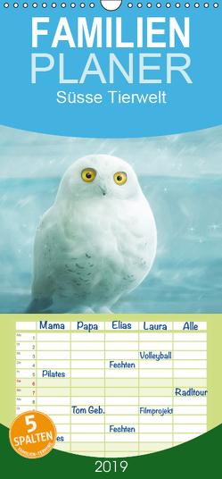 Süsse Tierwelt / Geburtstagskalender – Familienplaner hoch (Wandkalender 2019 , 21 cm x 45 cm, hoch) von Schoisswohl,  Silvio