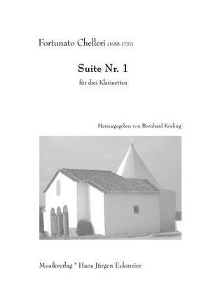 Suite Nr. 1 für drei Klarinetten von Chelleri,  Fortunato, Kösling,  Bernhard