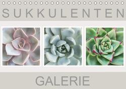 Sukkulenten Galerie (Tischkalender 2019 DIN A5 quer) von Wurster,  Beate