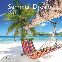Summer Dreams 2021 – Wand-Kalender – Broschüren-Kalender – A&I – 30×30 – 30×60 geöffnet