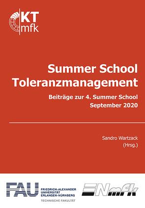 Summer School Toleranzmanagement von Friedrich-Alexander Universität Erlangen-Nürnberg, Wartzack,  Sandro