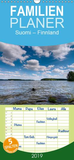 Suomi – Finnland – Familienplaner hoch (Wandkalender 2019 , 21 cm x 45 cm, hoch) von Härlein,  Peter