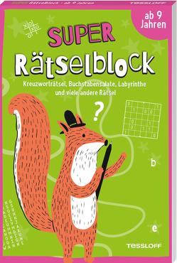 Super Rätselblock ab 9 Jahren.Kreuzworträtsel, Buchstabensalate, Labyrinthe und viele andere Rätsel von Heine,  Stefan