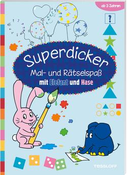 Superdicker Mal-und Rätselspaß mit ELEFANT und HASE von Baier,  Katja