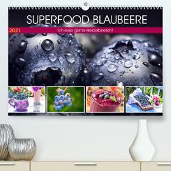 Superfood Blaubeere. Ich esse gerne Heidelbeeren! (Premium, hochwertiger DIN A2 Wandkalender 2021, Kunstdruck in Hochglanz) von Hurley,  Rose