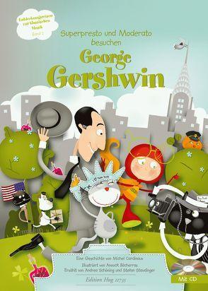 Superpresto und Moderato besuchen George Gershwin von Cardinaux,  Michel