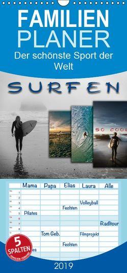 Surfen – so cool – Familienplaner hoch (Wandkalender 2019 , 21 cm x 45 cm, hoch) von Roder,  Peter
